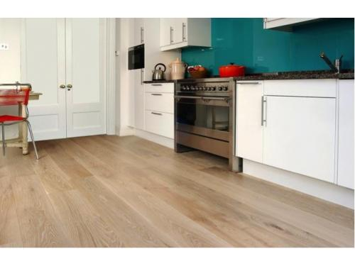 Oak Engineered Floor in Kitchen by The Natural wood Floor Company
