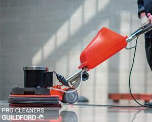 Commercial cleaning has many forms depending on the type of property. When you hire Pro Cleaners Guildford's local cleaning team you will no longer worry about the cleanliness of your workspace. We can care of any size and state of commercial property in