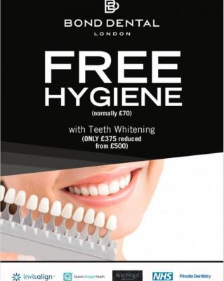 Free Dental Hygiene with Teeth Whitening Treatment