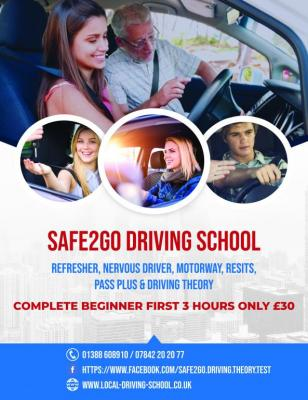 Beginners Driving Lessons First 3 hours driving lessons only £30