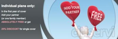 WPA are offering a time-,limited offer for new Individual customers. If you join WPA before the end of April 2013, your partner pays nothing for the first year.