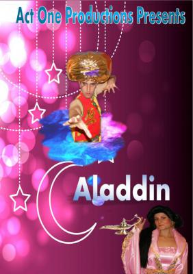 """""""Aladdin"""" Touring 15th November 2015 - 31st December 2015 Suitable for small community halls residential and nursing homes ALADDIN is specially adapted to tour small community halls, nursing and residential homes and will incorporate all the humour of"""